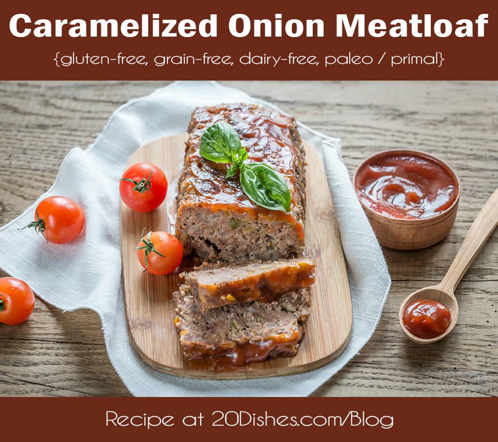 Caramelized Onion Meatloaf {gluten-free, grain-free, dairy-free, paleo / primal} // realmealplans.com