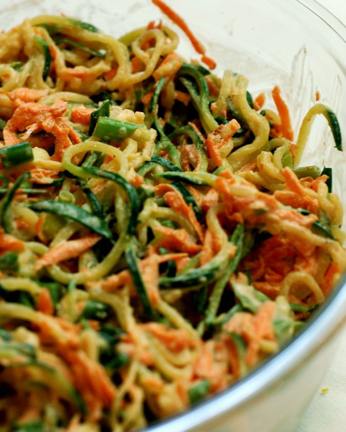 Cold Asian Zoodle Salad