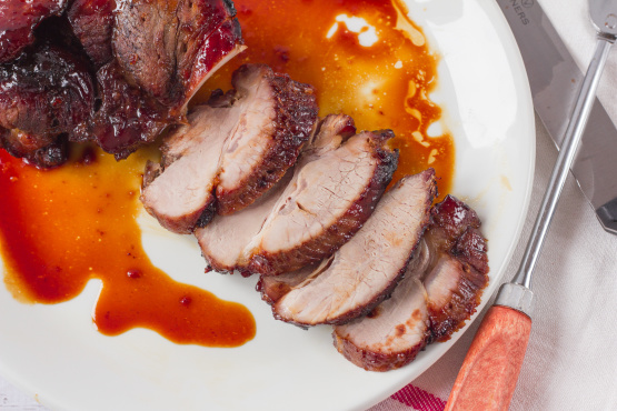 Spicy Pork Tenderloin with Greens and Carrots