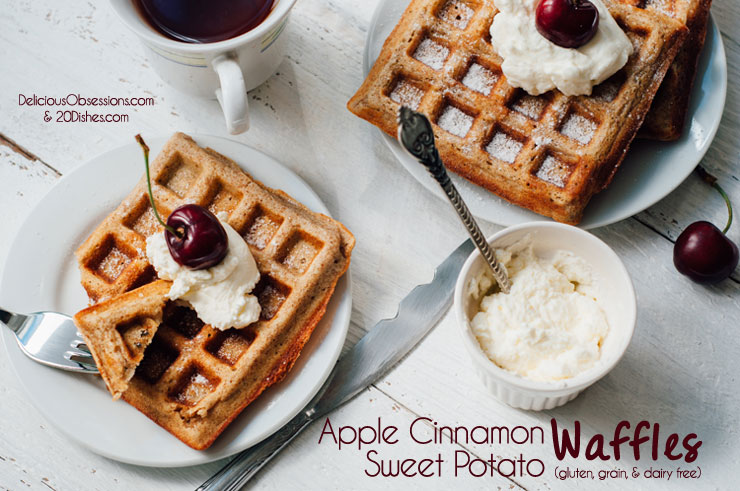Cinnamon Sweet Potato Waffles (gluten, grain, and dairy free) - Easy ...