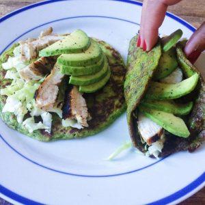 Green Breakfast Tacos