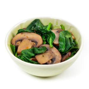 Italian Mushrooms and Spinach