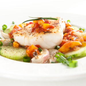 Baked White Fish and Vegetables