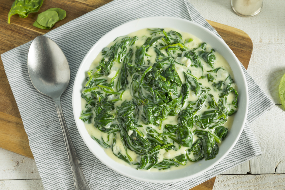 Cheesy Garlic Creamed Spinach