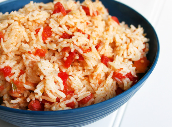 Rice and Vegetables with Diced Tomatoes