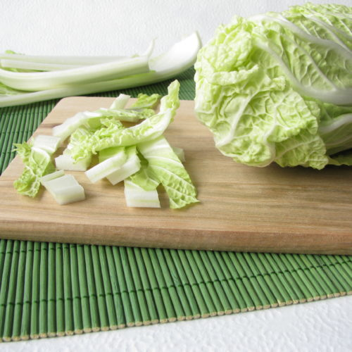 Ground Beef Stir Fry with Wilted Napa Cabbage