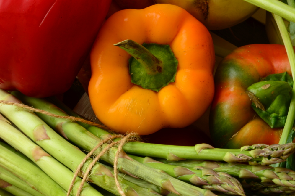 Depositphotos 71904077 m 2015 Roasted Asparagus and Red Peppers with Dijon and Thyme