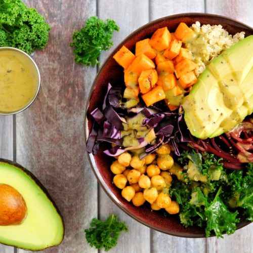 Gluten Free Sweet Potato and Kale Buddha Bowl