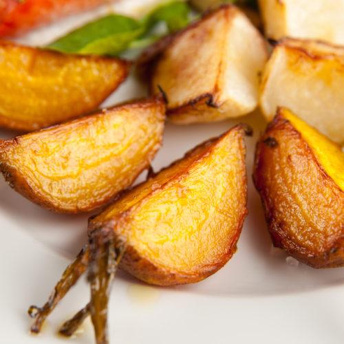 Roasted Turnips and Potatoes
