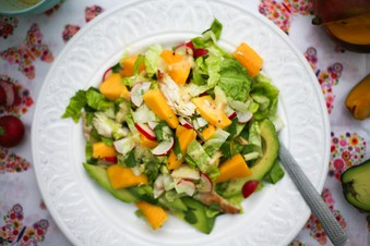 chicken mango and avocado salad Chicken Mango Avocado Salad