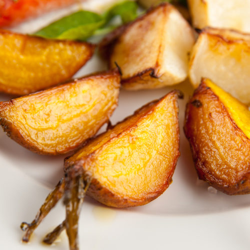 Roasted Garlic Turnips and Potatoes