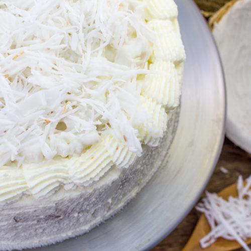 Grandma's Christmas Coconut Cream Cake
