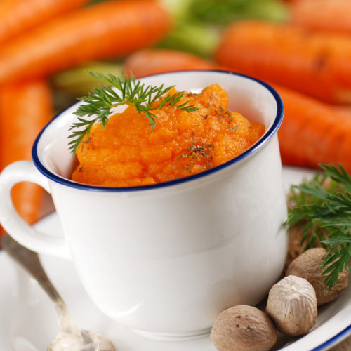 Mashed Carrots with Leek & Rosemary