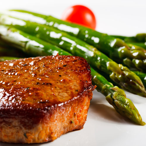 Garlic Steak with Roasted Asparagus
