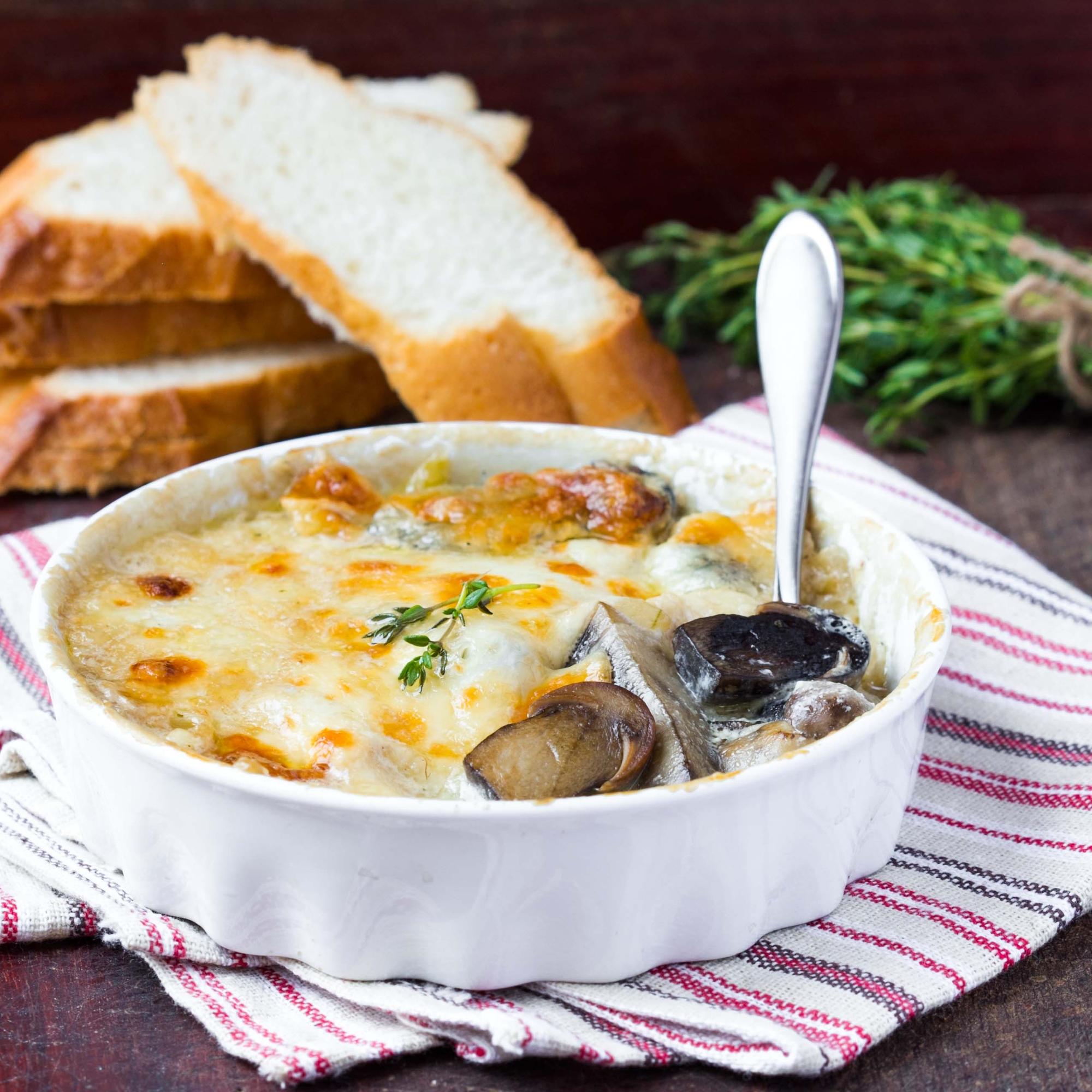 Mushroom Cheese Casserole