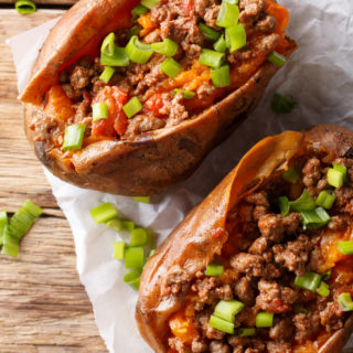 Southwest Beef and Sweet Potato Skillet