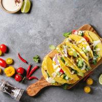 Portobello Tacos with Charred Scallion Salsa Verde