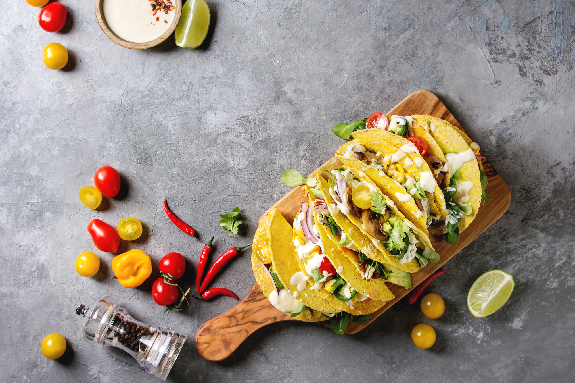 Depositphotos 198973358 l 2015 Portobello Tacos with Charred Scallion Salsa Verde