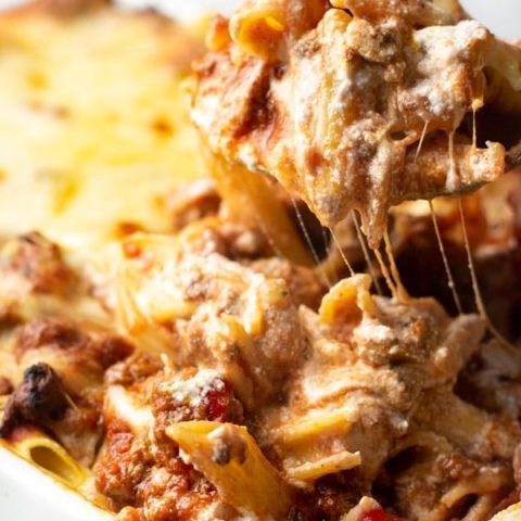 Baked Ziti Casserole spoon 20 Casseroles That Are $10 Or Less