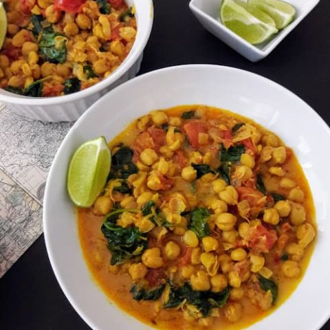 Chickpea coconut curry Easy $5 Dinners to Feed a Family of Four
