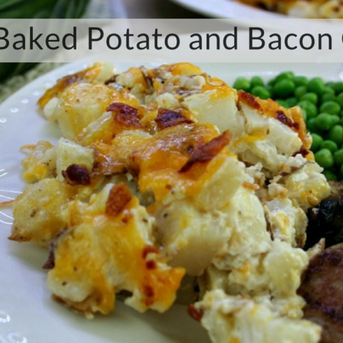 Leftover Baked Potato and Bacon Casserole social media image 20 Casseroles That Are $10 Or Less