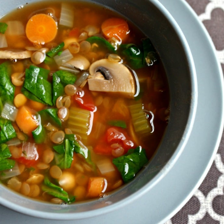 Lentil Vegetable Soup SQ Easy $5 Dinners to Feed a Family of Four
