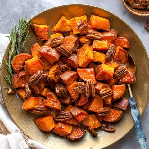 Maple Roasted Sweet Potatoes 4 20 Real Food Thanksgiving Recipes
