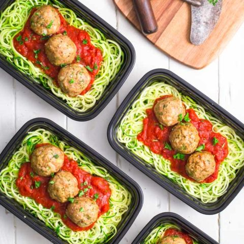 Whole30 Turkey Meatballs with Zoddles and Marinara 4 10 Whole30 Recipes You'll Love