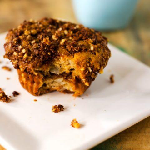 gluten free walnut pear coffee cake muffins 20 Gluten-Free Thanksgiving Recipes
