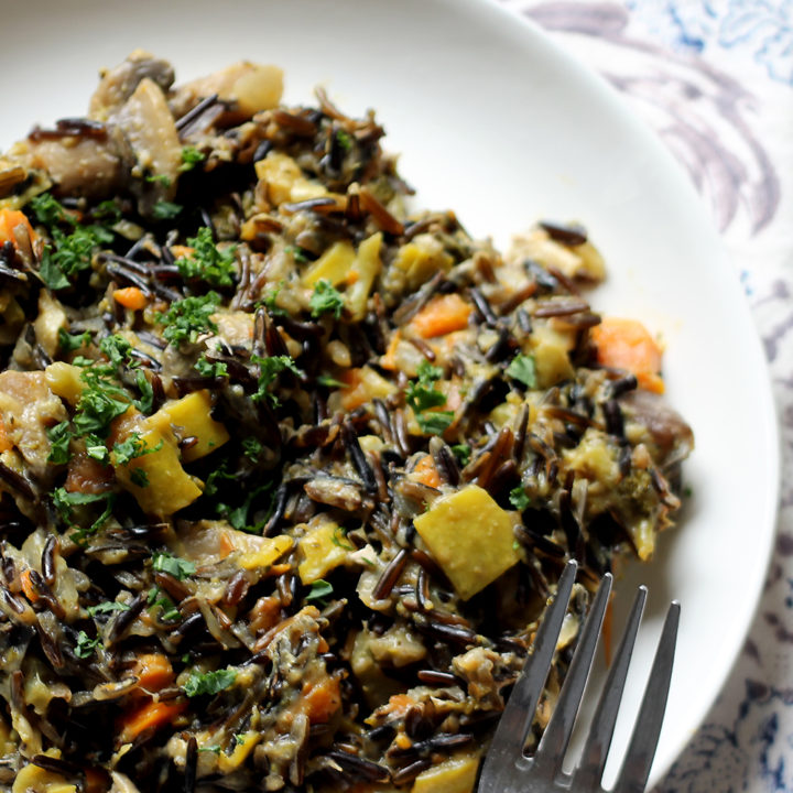 vegan wild rice risotto primavera2 20 Gluten-Free Thanksgiving Recipes